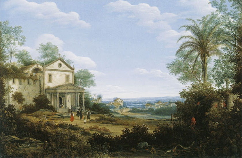 "Frans Prost: ""View of the Jesuit Church at Olinda, Brazil"", 1665, óleo sobre tela, The Detroit Institute of Arts"