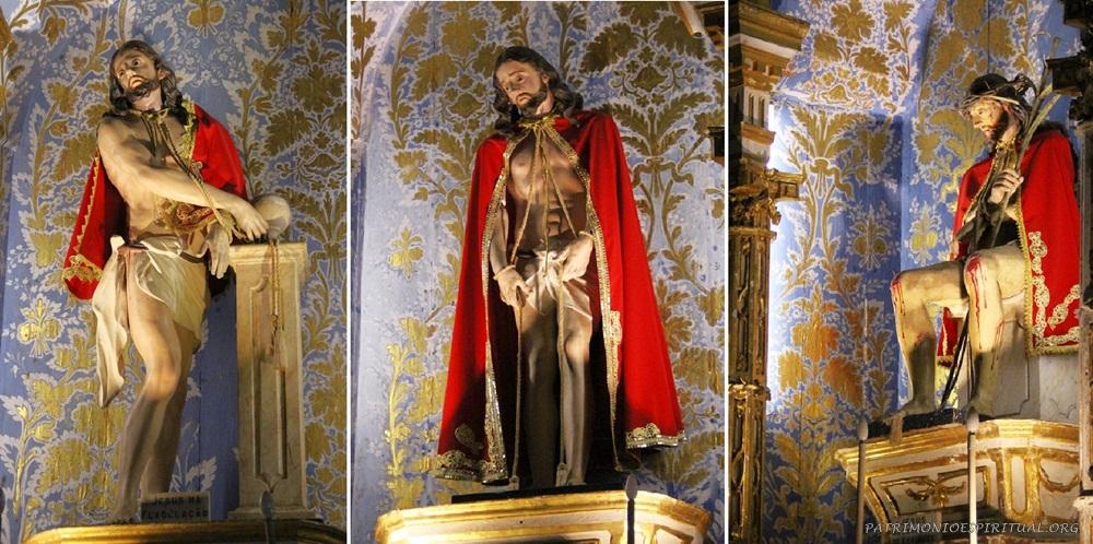 As igrejas da ordem terceira carmelita sempre ornavam seus altares com imagens representando Cristo em momentos de sua Paixão