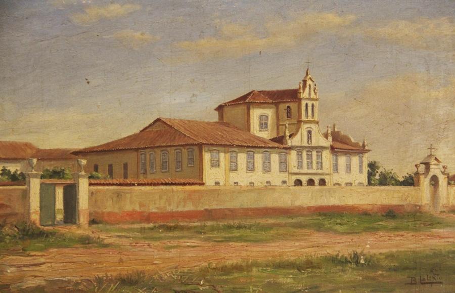 O recolhimento da Luz, em pintura de Benedito Calixto
