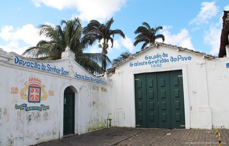 Local onde fica guardada a galeota do Bom Jesus dos Navegantes