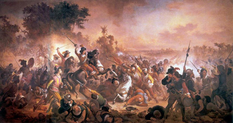 A Batalha de Guararapes, por Victor Meirelles (Museu Nacional de Belas Artes, Rio de Janeiro)