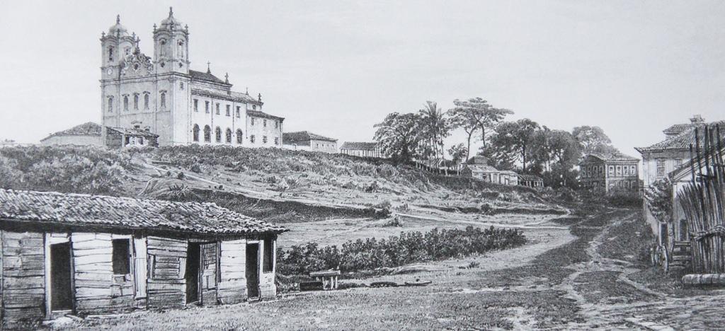 Igreja do Bonfim e seu entorno, em fotografia de 1859