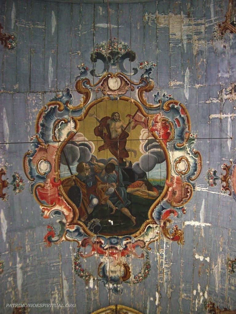 Bem Jesus Bacalhau pintura do forro