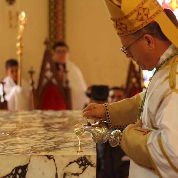 Benção e dedicação de um novo altar